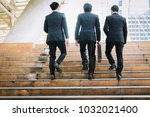 portrait group of three... | Shutterstock . vector #1032021400