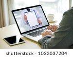 tutoring and his online... | Shutterstock . vector #1032037204