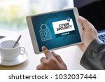 cyber security business ... | Shutterstock . vector #1032037444
