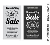 memorial day sale banners set | Shutterstock .eps vector #1032040246