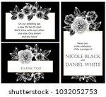 vintage delicate invitation... | Shutterstock .eps vector #1032052753