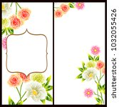 romantic invitation. wedding ... | Shutterstock . vector #1032055426