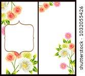 romantic invitation. wedding ... | Shutterstock . vector #1032055426