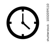 clock icon vector | Shutterstock .eps vector #1032059110