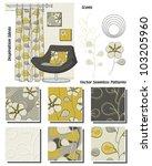modern interior vector seamless ...   Shutterstock .eps vector #103205960