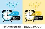 daylight saving time date... | Shutterstock . vector #1032059770