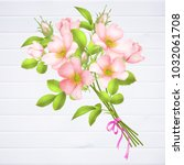 wedding invitation with wild...   Shutterstock .eps vector #1032061708