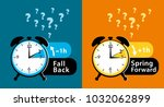 daylight saving time date... | Shutterstock . vector #1032062899