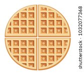 vector breakfast waffles... | Shutterstock .eps vector #1032077368