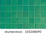 Green Tiles Texture Background