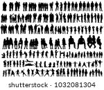 vector  isolated silhouettes of ... | Shutterstock .eps vector #1032081304