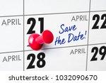 wall calendar with a red pin  ...   Shutterstock . vector #1032090670