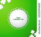 st patrick's day vector... | Shutterstock .eps vector #1032094600