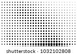 abstract monochrome halftone... | Shutterstock .eps vector #1032102808