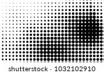 abstract monochrome halftone... | Shutterstock .eps vector #1032102910