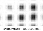 abstract monochrome halftone... | Shutterstock .eps vector #1032103288