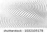 abstract monochrome halftone... | Shutterstock .eps vector #1032105178
