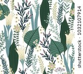 floral seamless pattern. vector ... | Shutterstock .eps vector #1032107914
