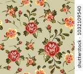 seamless pattern with vintage... | Shutterstock .eps vector #1032109540