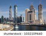 dubai  uae   february 2018 ... | Shutterstock . vector #1032109660