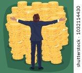 happy businessman enjoys... | Shutterstock .eps vector #1032114430