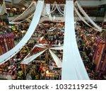 blur shopping festival in... | Shutterstock . vector #1032119254