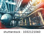 different size and shaped pipes ... | Shutterstock . vector #1032121060