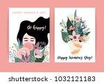 international women's day.... | Shutterstock .eps vector #1032121183