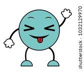 line color joking emoji... | Shutterstock .eps vector #1032129970