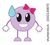 shame laugh female emoji... | Shutterstock .eps vector #1032130870