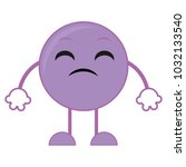 disappointed emoji expression... | Shutterstock .eps vector #1032133540