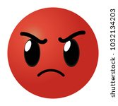 red angry face gesture emoji... | Shutterstock .eps vector #1032134203