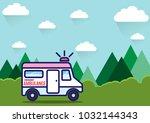 vector illustration. flat... | Shutterstock .eps vector #1032144343