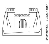 medieval castle design | Shutterstock .eps vector #1032145054