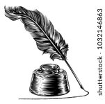 A Writing Quill Feather Ink Pe...