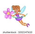pixel art character  small... | Shutterstock .eps vector #1032147610