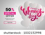 woman s day text design with... | Shutterstock .eps vector #1032152998