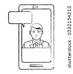 grunge avatar elegant man...   Shutterstock .eps vector #1032154213