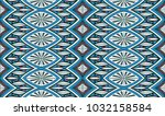 geometric folklore ornament.... | Shutterstock .eps vector #1032158584