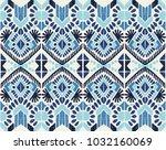 ikat geometric folklore... | Shutterstock .eps vector #1032160069