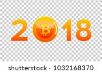bitcoin cryptocurrency coin ... | Shutterstock .eps vector #1032168370
