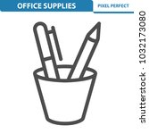 office supplies icon.... | Shutterstock .eps vector #1032173080