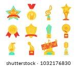 music vector award  | Shutterstock .eps vector #1032176830