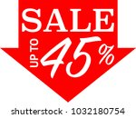 special offer sale red tag... | Shutterstock .eps vector #1032180754
