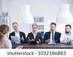 members of the hr department... | Shutterstock . vector #1032186883