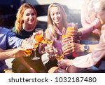 friendly stmosphere. cheerful... | Shutterstock . vector #1032187480