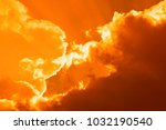 Small photo of Clouds in orange and purple colors, art and phantasy with clouds