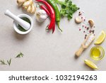 culinary background  view from... | Shutterstock . vector #1032194263