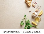 culinary background  view from... | Shutterstock . vector #1032194266