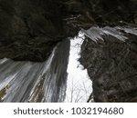 breitachklamm in winter icicles ... | Shutterstock . vector #1032194680